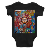Contemporary Aboriginal Art Design Infant Bodysuit