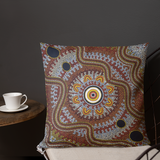 Custom Traditional Aboriginal Art Design Premium Pillow Cushions