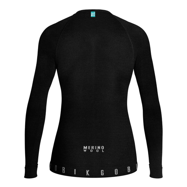 CAMISETA MUJER MANGA LARGA WINTER MERINO BASELAYER - Velo boutique Gobik Chile