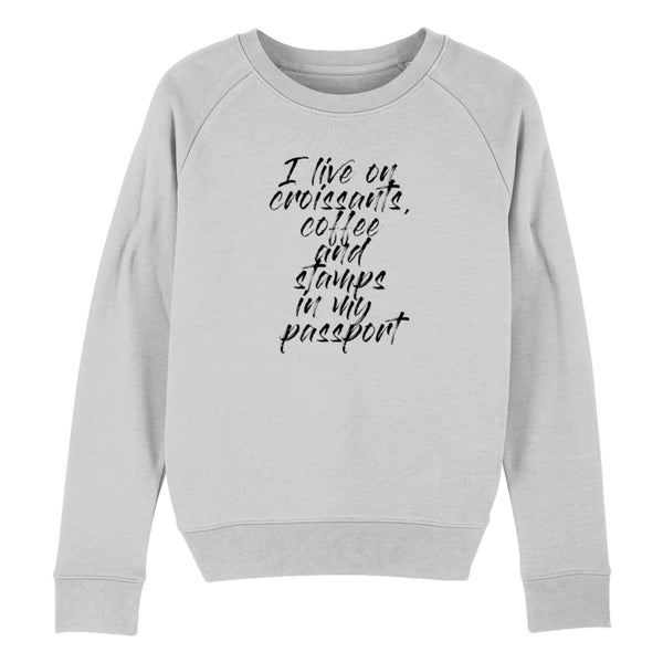 Croissants Coffee and Stamps Women's Sweatshirt - Heather