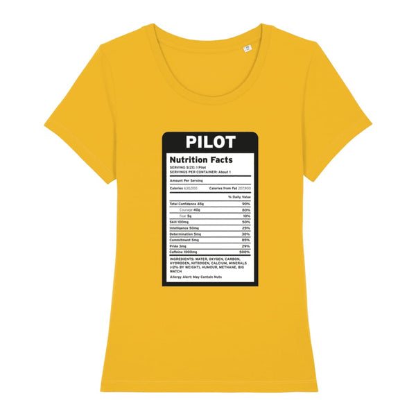 Pilot Nutritional Information Women's T-Shirt - Spectra
