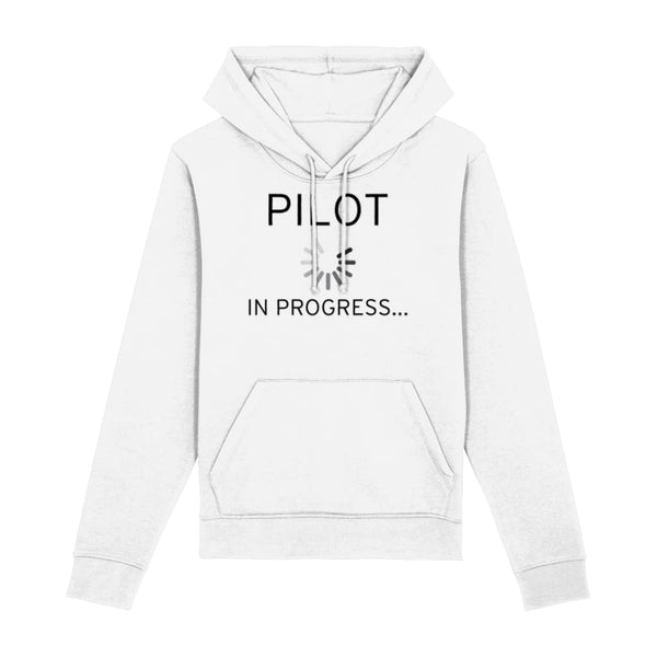 Pilot In Progress Hoodie - White / XX-Small - Clothing
