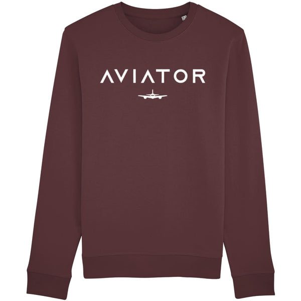 Aviator Sweatshirt - Burgundy / X-Small - Clothing