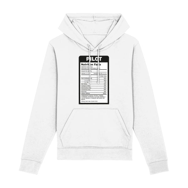 Pilot Nutritional Information Hoodie - White / XX-Small -