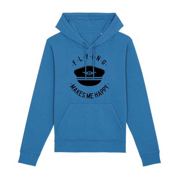 Flying Makes Me Happy Hoodie - Royal Blue / X-Small -