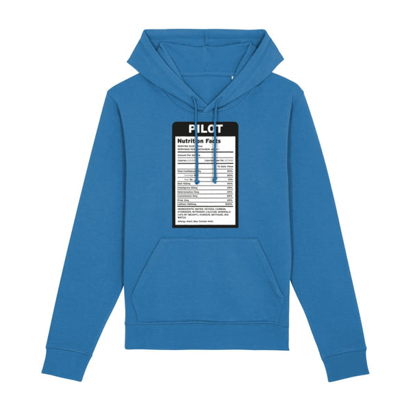 Pilot Nutritional Information Hoodie - Royal Blue / X-Small