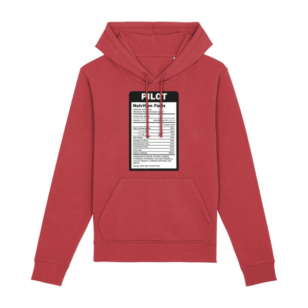 Pilot Nutritional Information Hoodie - Red / X-Small -