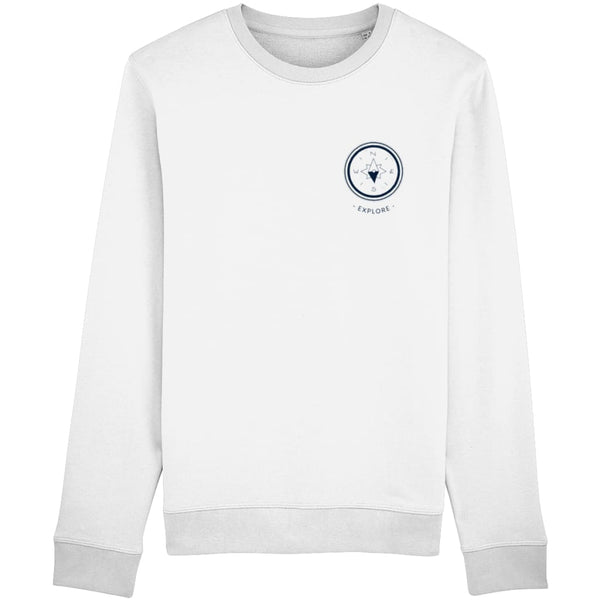 Explore Sweatshirt - White / X-Small - Clothing