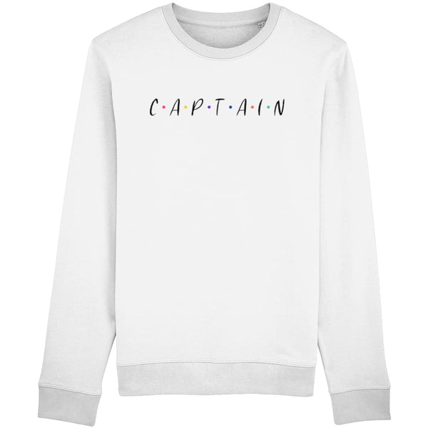 Captain Sweatshirt - White / X-Small - Clothing