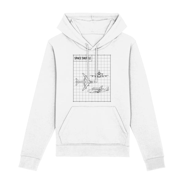 Space Shuttle Hoodie - White / XX-Small - Clothing