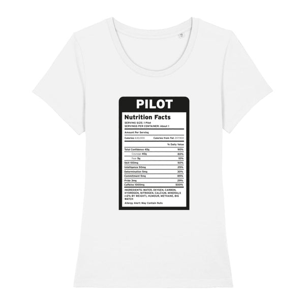 Pilot Nutritional Information Women's T-Shirt - White /
