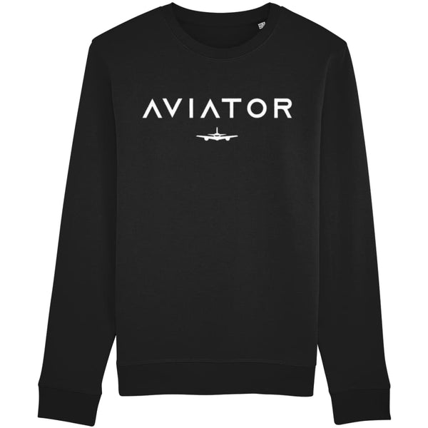 Aviator Sweatshirt - Black / X-Small - Clothing