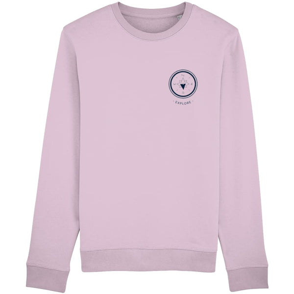 Explore Sweatshirt - Candy Pink / X-Small - Clothing