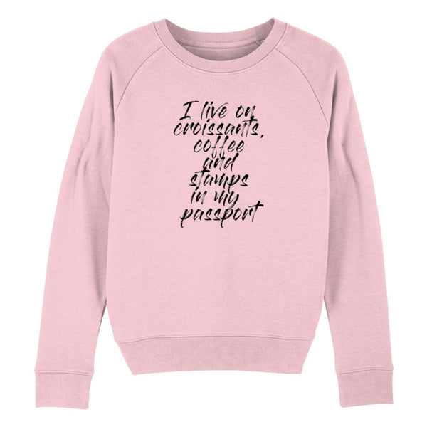 Croissants Coffee and Stamps Women's Sweatshirt - Cotton