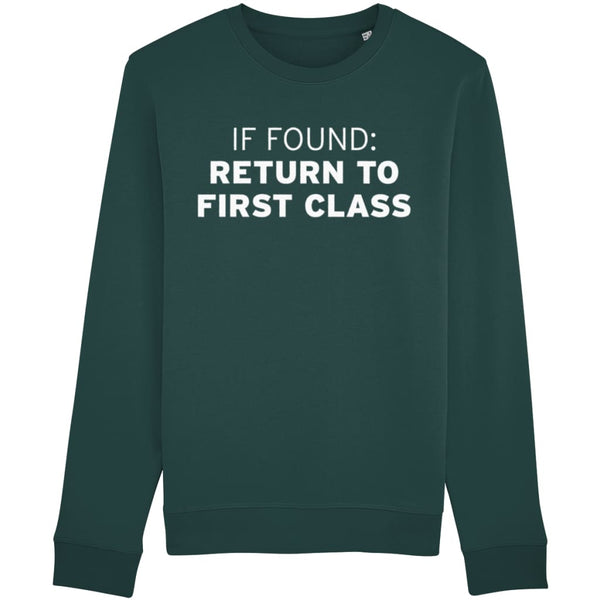 Aero Threads Clothing Glazed Green / X-Small If Found: Return To First Class Sweatshirt