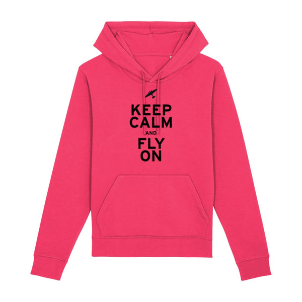Aero Threads Clothing Raspberry / X-Small Keep Calm and Fly On Hoodie