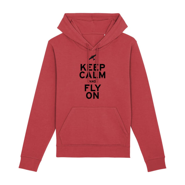 Aero Threads Clothing Red / X-Small Keep Calm and Fly On Hoodie