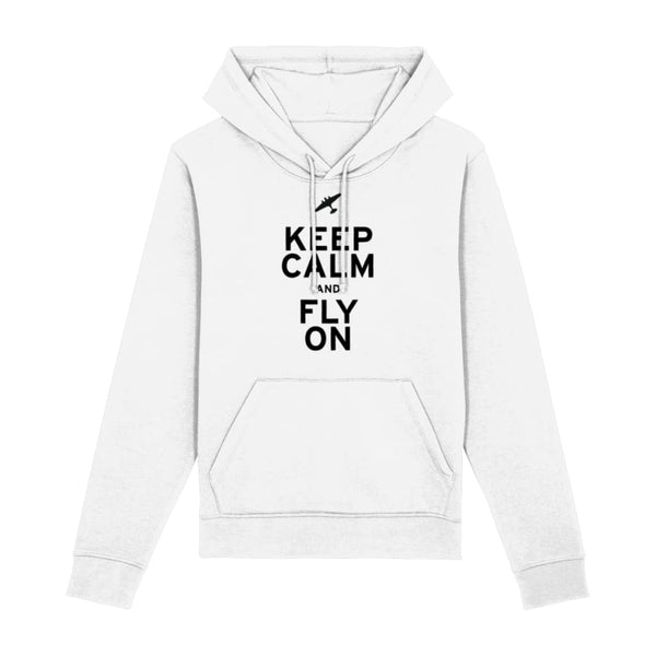 Aero Threads Clothing White / XX-Small Keep Calm and Fly On Hoodie