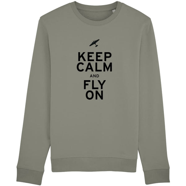 Aero Threads Clothing Light Khaki / X-Small Keep Calm and Fly On Sweatshirt