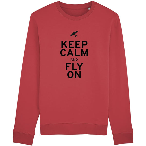 Aero Threads Clothing Red / X-Small Keep Calm and Fly On Sweatshirt