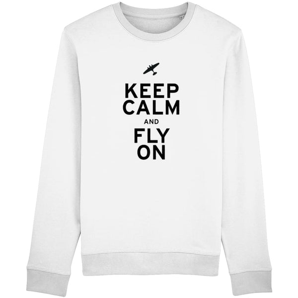 Aero Threads Clothing White / X-Small Keep Calm and Fly On Sweatshirt