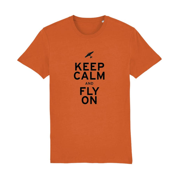Aero Threads Suggested Products Bright Orange / X-Small Keep Calm and Fly on T-Shirt