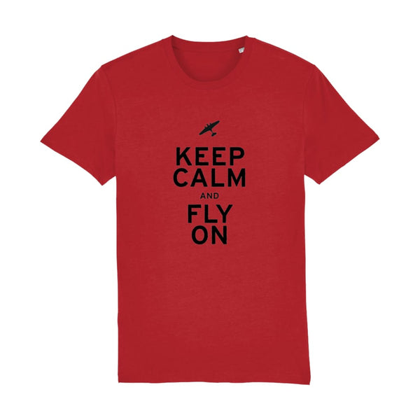 Aero Threads Suggested Products Bright Red / XX-Small Keep Calm and Fly on T-Shirt
