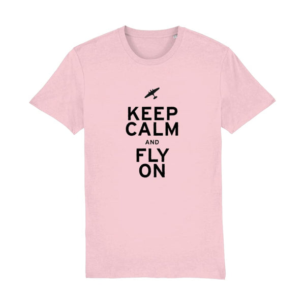 Aero Threads Suggested Products Cotton Pink / XX-Small Keep Calm and Fly on T-Shirt