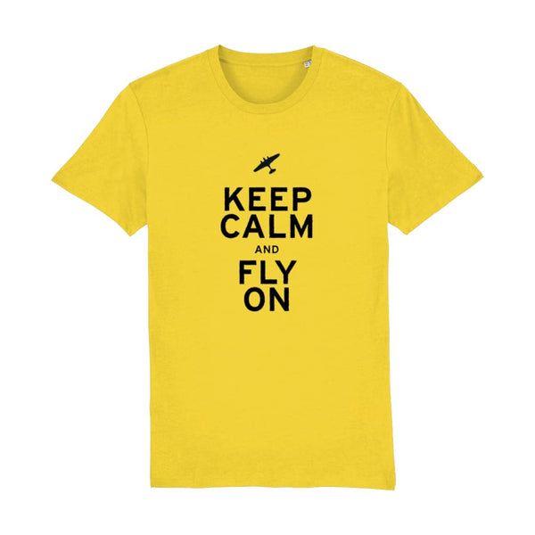 Aero Threads Suggested Products Golden Yellow / X-Small Keep Calm and Fly on T-Shirt
