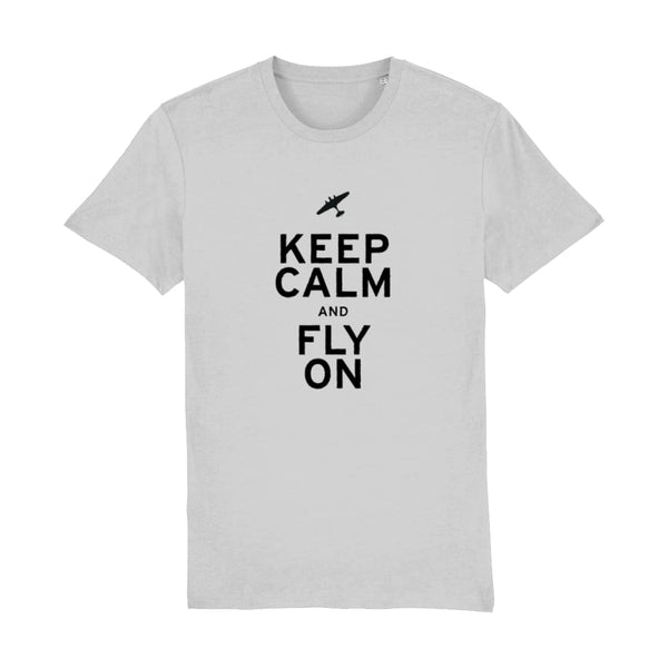 Aero Threads Suggested Products Heather Grey / XX-Small Keep Calm and Fly on T-Shirt