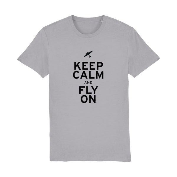 Aero Threads Suggested Products Mid Heather Grey / XX-Small Keep Calm and Fly on T-Shirt