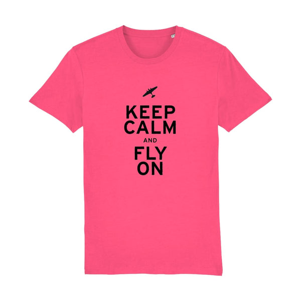 Aero Threads Suggested Products Pink Punch / XX-Small Keep Calm and Fly on T-Shirt