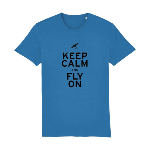 Aero Threads Suggested Products Royal Blue / XX-Small Keep Calm and Fly on T-Shirt