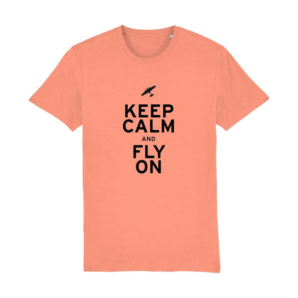 Aero Threads Suggested Products Sunset Orange / X-Small Keep Calm and Fly on T-Shirt