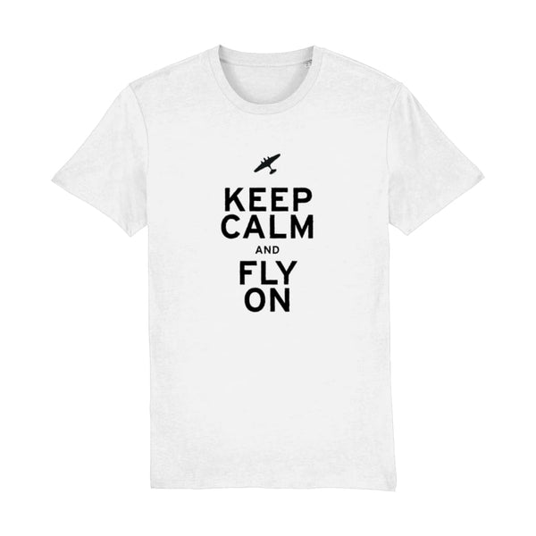 Aero Threads Suggested Products White / XX-Small Keep Calm and Fly on T-Shirt