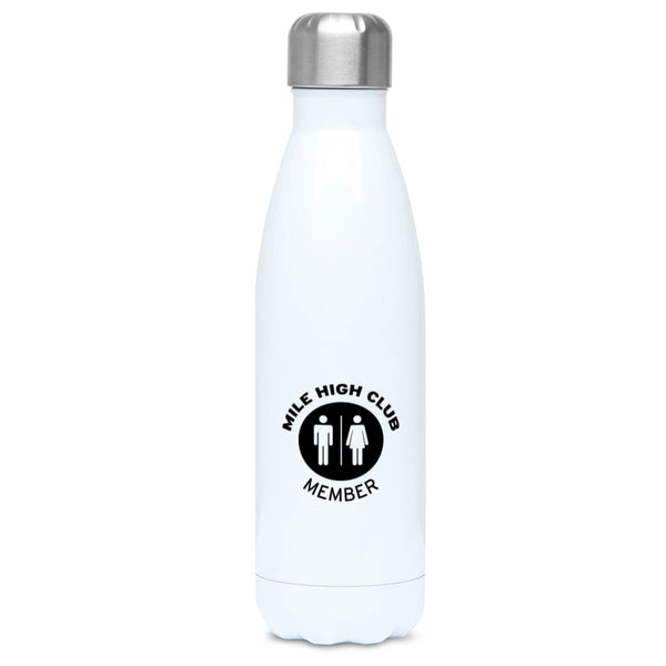Aero Threads Accessories & Homeware Stainless Steel / White Mile High Club Member 500ml Water Bottle
