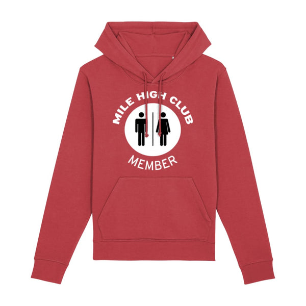 Aero Threads Clothing Red / X-Small Mile High Club Member Hoodie
