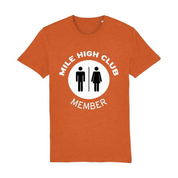 Aero Threads Suggested Products Bright Orange / X-Small Mile High Club Member T-Shirt