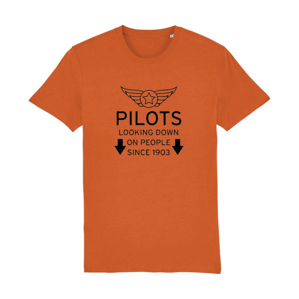 Aero Threads Suggested Products Bright Orange / X-Small Pilot Looking Down On People Since 1903 T-Shirt