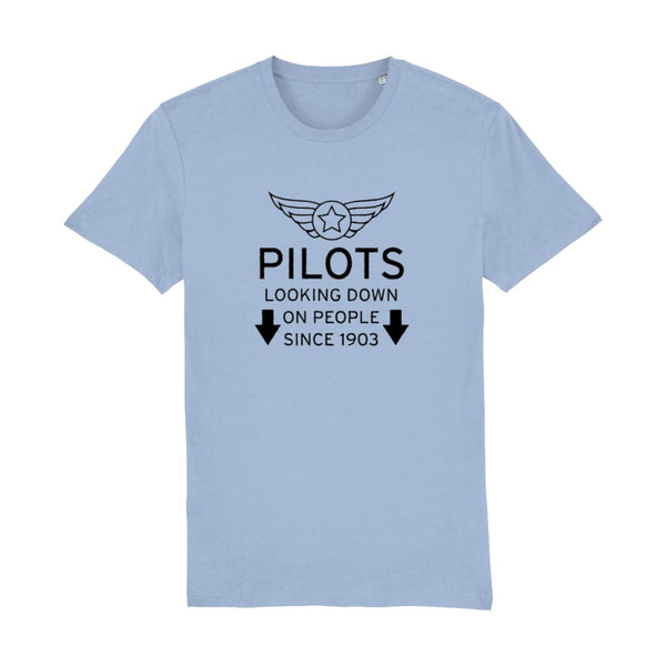Aero Threads Suggested Products Sky Blue / X-Small Pilot Looking Down On People Since 1903 T-Shirt