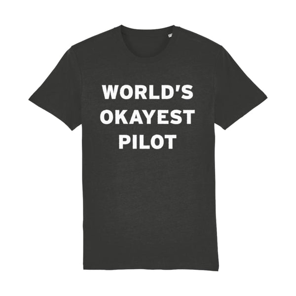Aero Threads Suggested Products Dark Heather Grey / XX-Small World's Okayest Pilot Men's T-Shirt