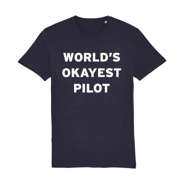 Aero Threads Suggested Products French Navy / XX-Small World's Okayest Pilot Men's T-Shirt