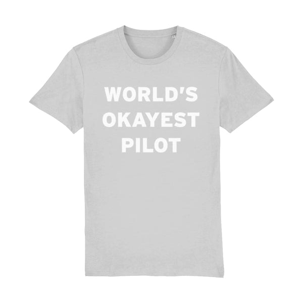 Aero Threads Suggested Products Heather Grey / XX-Small World's Okayest Pilot Men's T-Shirt