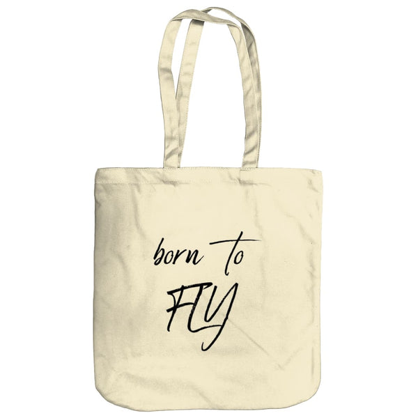 AeroThreads Accessories & Homeware Natural Born To Fly Tote Bag