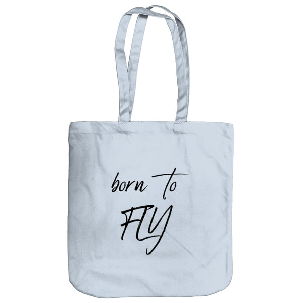 AeroThreads Accessories & Homeware Pastel Blue Born To Fly Tote Bag