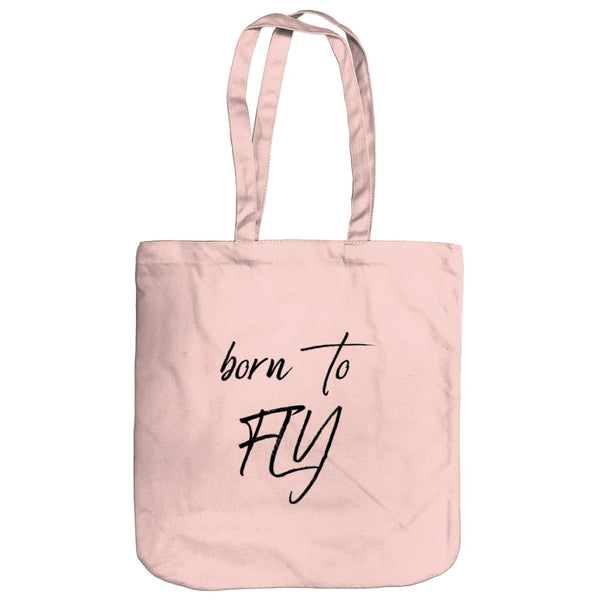 AeroThreads Accessories & Homeware Pastel Pink Born To Fly Tote Bag