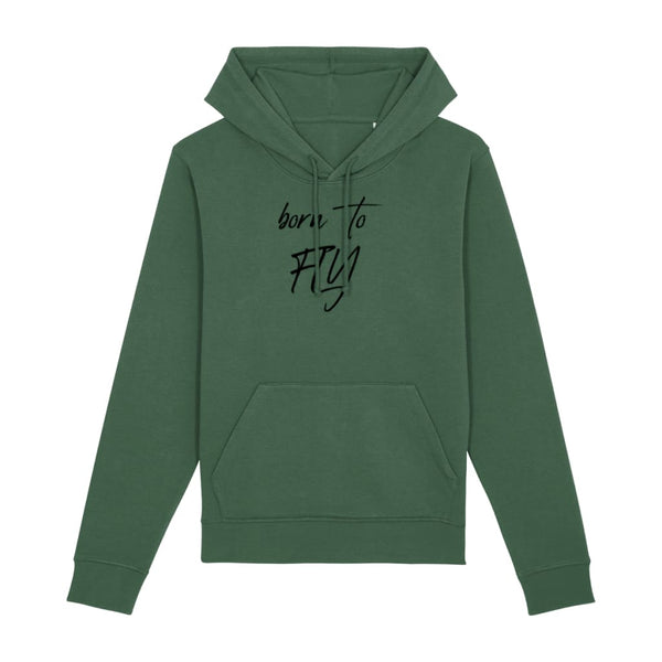 AeroThreads Clothing Bottle Green / X-Small Born To Fly Unisex Hoodie