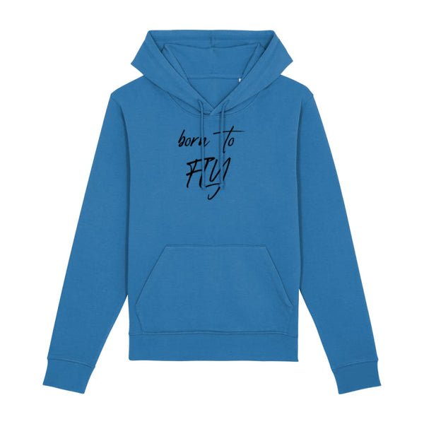 AeroThreads Clothing Royal Blue / X-Small Born To Fly Unisex Hoodie