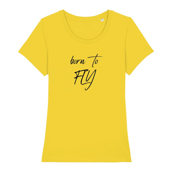 AeroThreads Clothing Golden Yellow / X-Small Born To Fly Women's T-Shirt