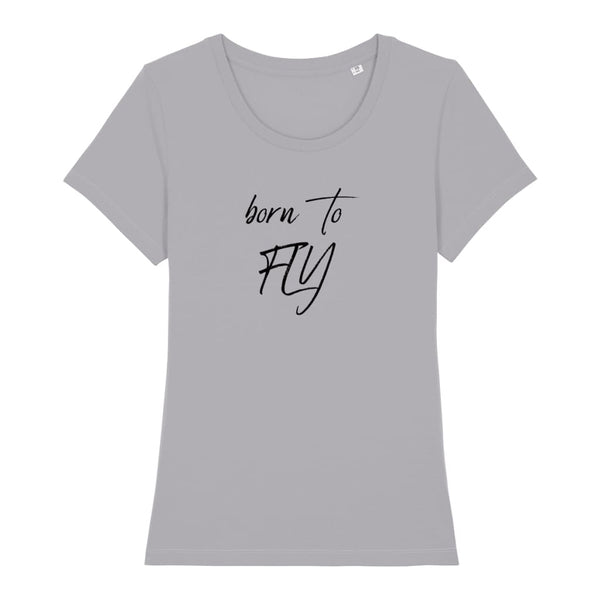 AeroThreads Clothing Mid Heather Grey / X-Small Born To Fly Women's T-Shirt
